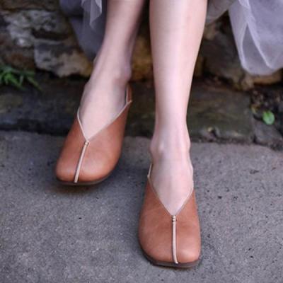 Vintage Simple Slip-On Flat Shoes