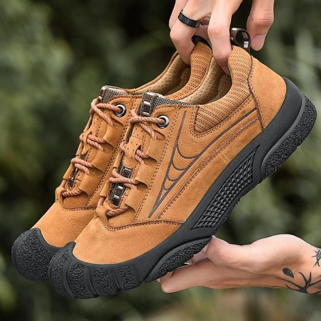 Men Fashion All Season Casual Lace-up Outdoor Sports Flats