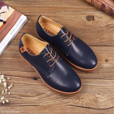 Fashion Casual Soft Plain Leather Men Shoes