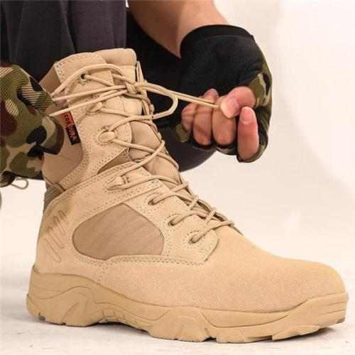 Outdoor Fashion Casual Solid Color High Tube Men Men Boots