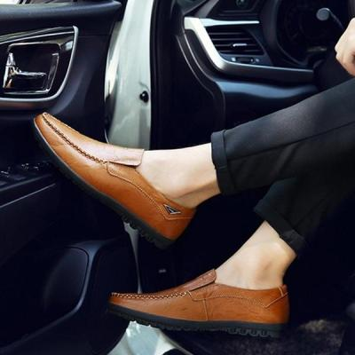 Mens Hook Loop Soft Sole Flat Shoes
