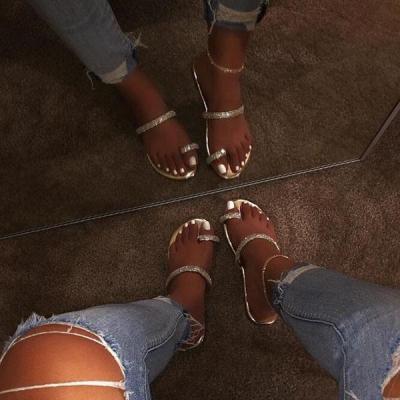 Women Slip-On Glitter Casual Sandals