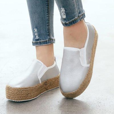 Espadrilled Slip On All Season Platform Loafers
