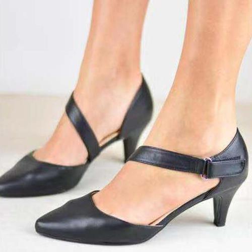 Medium Stiletto Women Ankle Strap Pointy Toe Heel Sandals