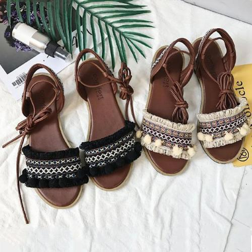 Bohemian Casual Lacing Flat Beach Sandals