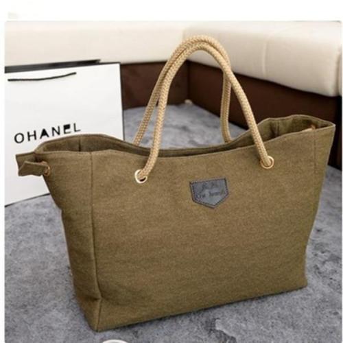 Casual Canvas Tote Messenger Handbag Storage Bag