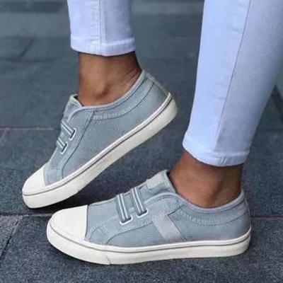 Color Block Stripe Canvas Gender Neutral Sporting Shoes