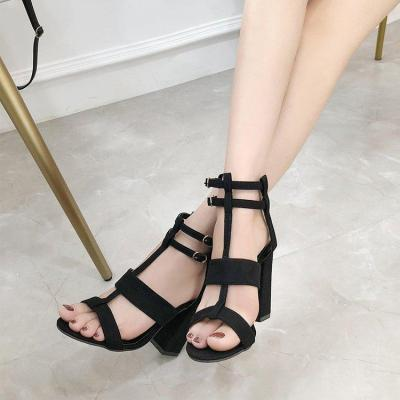 Ankle Strap Heels Women Sandals Summer Shoes Open Toe Chunky High Heels Party Dress