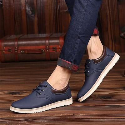Mens Fashion Lace-up Casual Flat Shoes