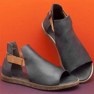 Flat Peep Toe Sandals Casual Shoes Vintage Sandals Platform