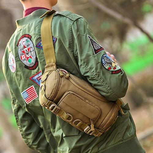 Nylon Outdoor Waterproof Tactical Sling Bag Chest Waist Bag