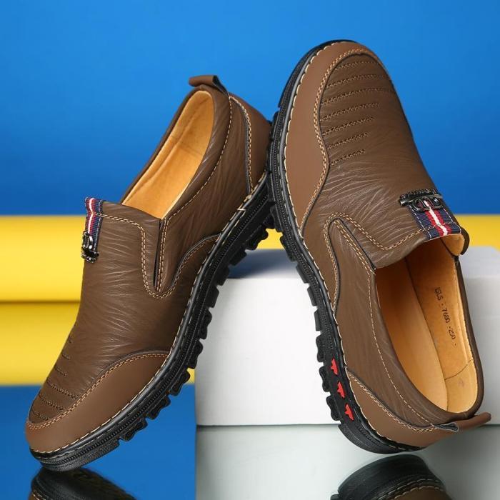 Mens All Season Slip On Casual Flats Non-Slip Fashion Loafers