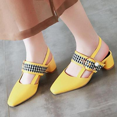Sweet Date Middle Heel Square Toe Sandals