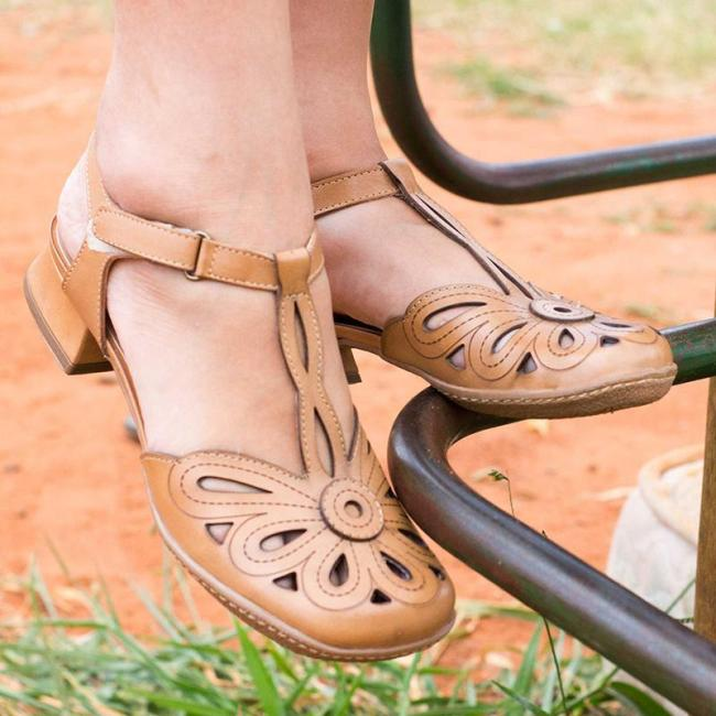 Spring/fall Faux Leather Sandals