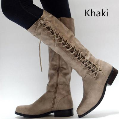 Knight boots Lady Knee High Boots Low Chunky Heel