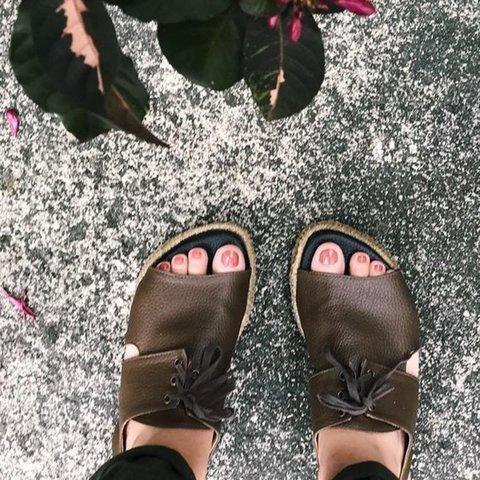 Peep Toe Interlace Hollow Summer Straw-Weaved Platform Sandals