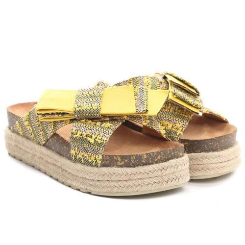 Platform Espadrille Sandals Open Toe Bowknot Boho Women Sandals