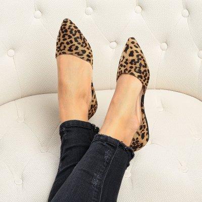 Leopard D'Orsay Flats