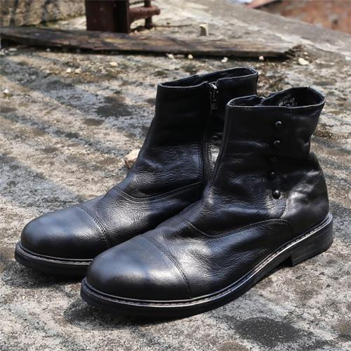 Male side zip handmade Chelsea boots