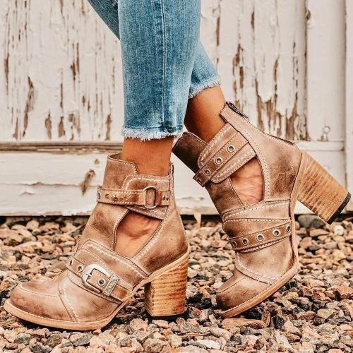 City British Style Ladies Low Boots Martin Boots