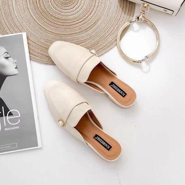 New Fashion Mules Women Slip On Flip Flops Women Slippers