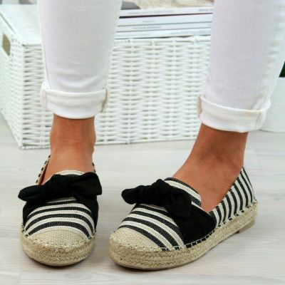 Striped Woven Fisherman Shoes