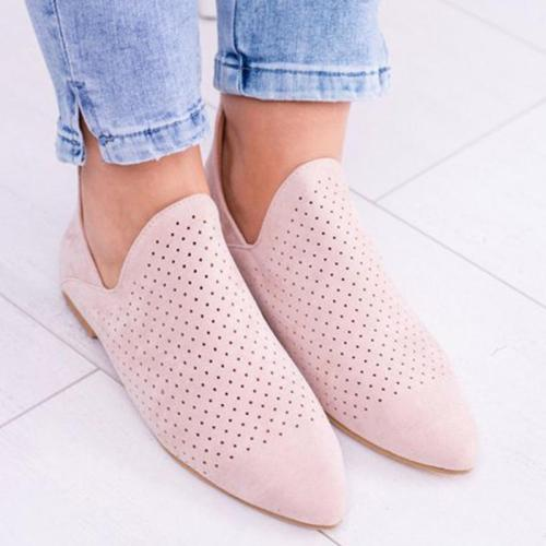 CUTOUTS SLIP ON CHELSEA BOOTIES LOW HEEL DAILY HOLLOW-OUT ANKLE BOOTS