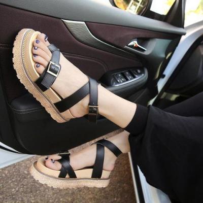 Sandals Ankle Strap Buckle Flip Flop Gladiator Shoes