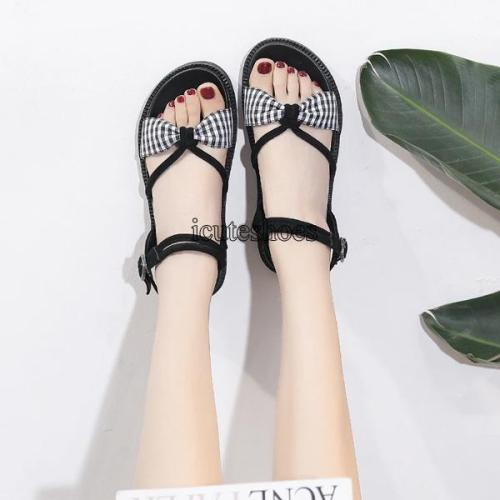 2020 Summer New Roman Sandals Casual Flat-bottomed Beach Shoes Woman