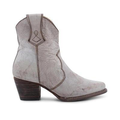 Vintage Pu Point Toe Med Chunky Ankle Boots
