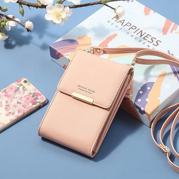 Pierreloues PU Leather Card Holder 6inch Phone Bag Crossbody Bag