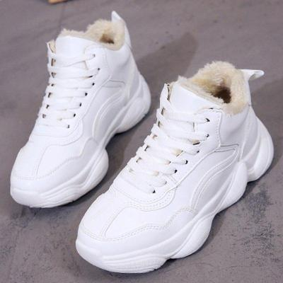 Women Winter Casual Warm Lining Lace Up Atheletic Sneakers