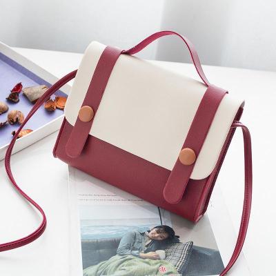 Small Package Women's New Fashion Oblique Cross-chain Impact Color Square Bag Single Shoulder Bag