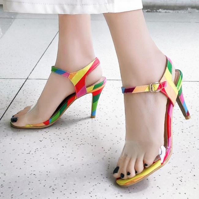 Sexy High Heel Date Summer Pvc Sandals