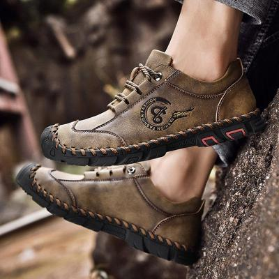 Mens Travel Hiking Outdoor Climbing Lace-up Flats