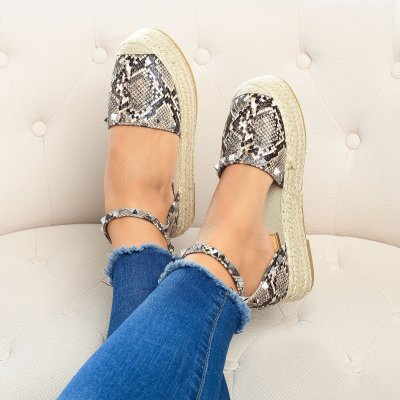 Beverly Studded Taupe Espadrilles