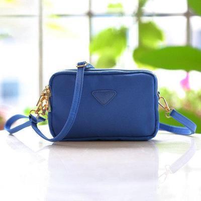 Water Resistant Multi-slot Clutch Bag Nylon Mini Crossbody Bag