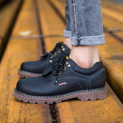 Leather raised casual Martin boots
