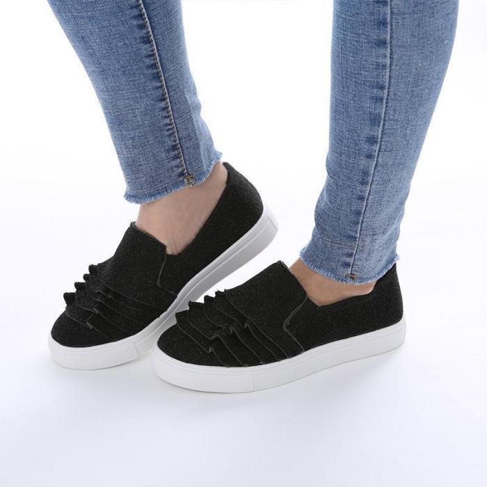 Flat Wace Edge Sliop-on Shoes