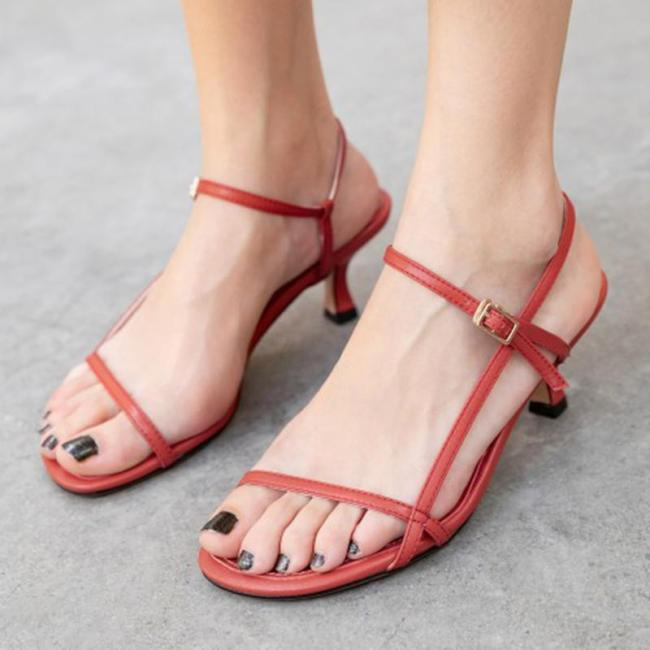 Summer Genuine Leather Daily Open Toe Sandals