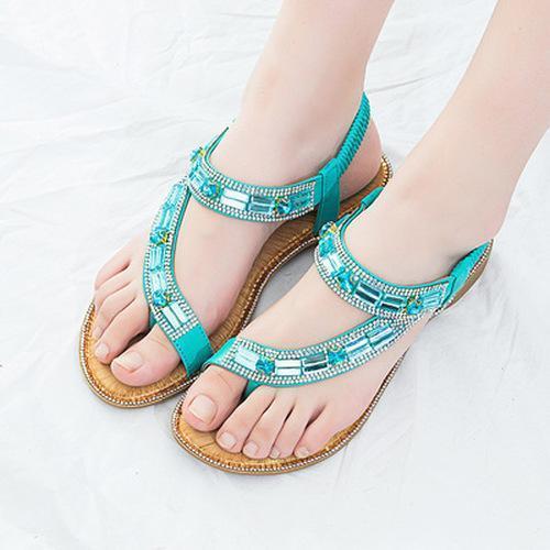 Women Colorful Summer Flat Heel Sandals
