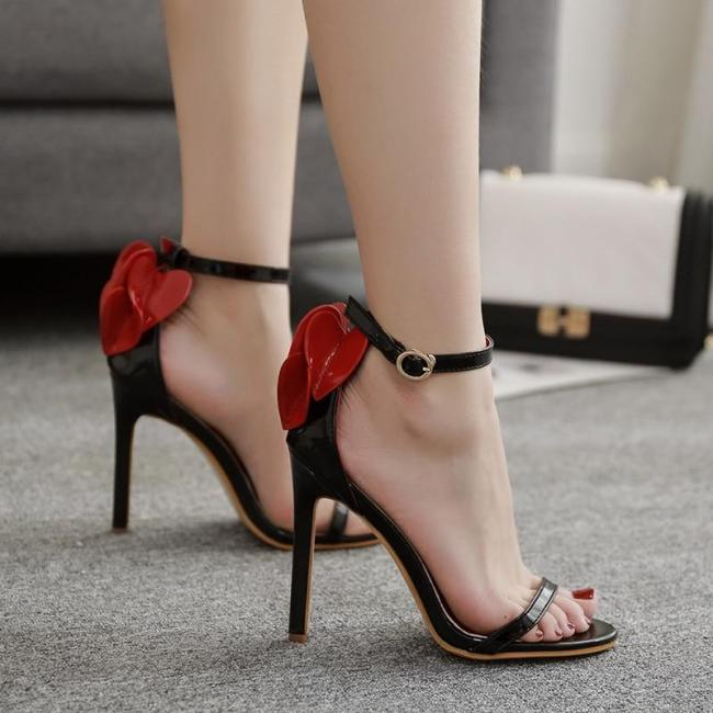 Summer Female Sandals Heels One Word Strap Peep-Toe Sexy Shoes