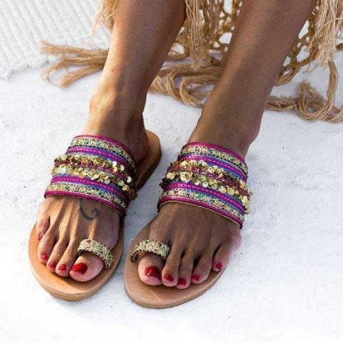 Summer Casual Vintage Flip-Flop Toe Women Sandals