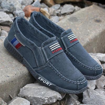 Men Denim Canvas Leisure Loafers