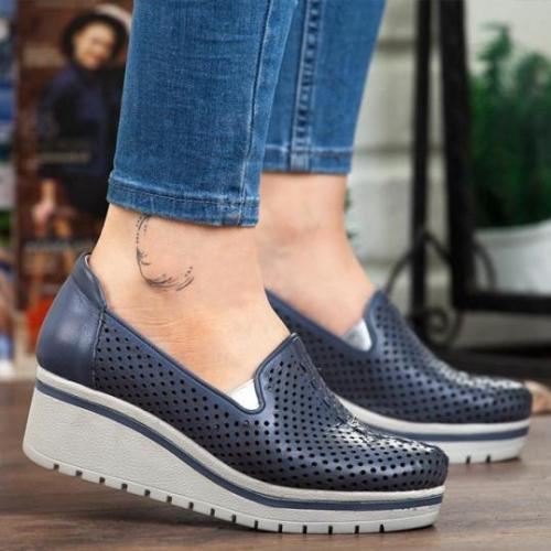 Plain Round Toe Casual Sport Sneakers