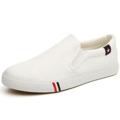 Mens Canvas Flats Slip On Casual Loafers