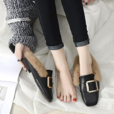 Autumn and Winter Slippers Female Slippers Cozy Mueller Shoes Sandals In Summer