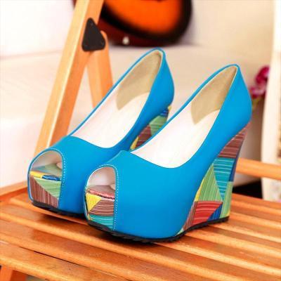 Sexy Wedge Heel Women Multicolor High Platform Heels & Pumps