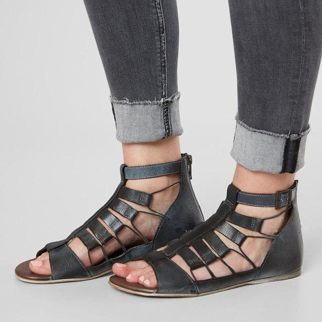 New Style Fashion Zipper Casual Sandals