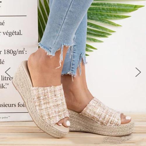 Women Elegant  Open Toe Wedge Sandals